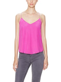 Washed Silk Camisole from Think Pink: The Perfect Fall Hue on Gilt