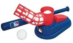 Franklin Sports MLB Baseball Pop A Pitch - Includes 25 Inch Collapsible Plastic Bat and 3 Plastic Baseballs Baseball Pitching, Pro Baseball, Baseball Training, Baseball Equipment, Used Equipment, Baseball Games, Baseball Jerseys, Baseball Live, Basketball Hoop