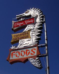 China Gate Restaurant, Coeur d'Alene, ID. R.I.P. Coeur D'alene Idaho, Chinese American, Our Country, North America, Gate, Neon, Restaurant, China, Spaces