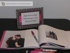 Photo guest book for sign in...way better than a normal list!