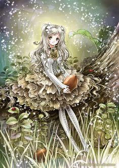 Forest fairy by manga artist Shiitake.