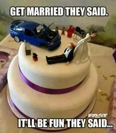 Bahahahaha.  If it ever happens...    I might have to have a groomsman cake like this.  Lol