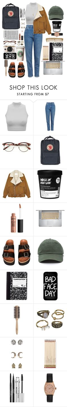 """""""Look #179"""" by lexi7802 ❤ liked on Polyvore featuring Topshop, Fjällräven, Sixtyseven, Urban Outfitters, Local Heroes, Philip Kingsley, Mudd, Kate Spade, Stila and Nixon"""