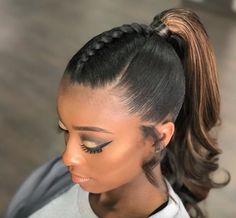 Perfect ponytail by @keystylist - https://blackhairinformation.com/hairstyle-gallery/perfect-ponytail-keystylist/
