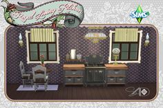 Ts3 to Ts4 Conversion of Regal Living Kitchen from the Ts3 store.  This set includes:      Extra Exquisite Ceiling Light     Victorian Kerosene Lamp     Victorian Kerosene Wall Lamp     B. Harvard's Water Collection Set     Retronator Stove http://daer0n.tumblr.com/post/141283145014/ts3-to-ts4-conversion-of-regal-living-kitchen-from