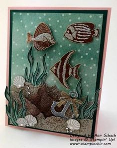 Card by Ann Schach (071617) [Stampin' Up! (stamps) Seaside Shore, Touches of Textures]