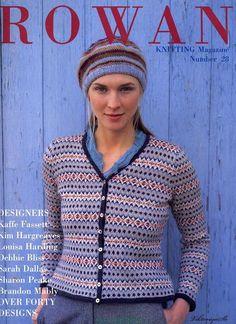 Rowan Knitting Magazine n° 28 Rowan Knitting, Knitting Books, Crochet Books, Fair Isle Knitting, Free Knitting, Knit Crochet, Vintage Knitting, Knitting Magazine, Crochet Magazine