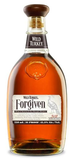 Wild Turkey Forgiven Bottled at 91 proof, this limited-edition whiskey was made from a marriage of Wild Turkey Bourbon and Wild Turkey Rye. Cigars And Whiskey, Scotch Whiskey, Bourbon Whiskey, Whiskey Bottle, Irish Whiskey, Oldest Whiskey, Tennessee Whiskey, Wild Turkey Bourbon, Root Beer