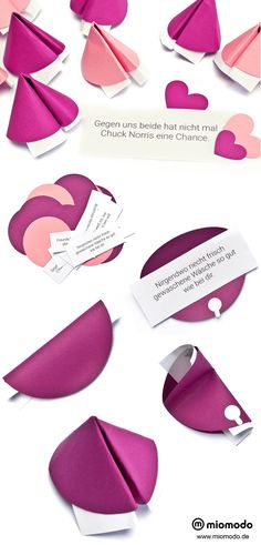 Make fortune cookies for Mother's Day - OmaMargret - Geschenk Diy And Crafts, Crafts For Kids, Diy Presents, Fortune Cookie, Woodland Party, Paper Cards, Creative Gifts, Happy Mothers Day, Wedding Gifts