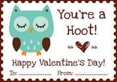 "free {Printables} ""Owl Love You"" Valentines"