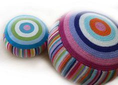 almohadones   crochet floor pillows