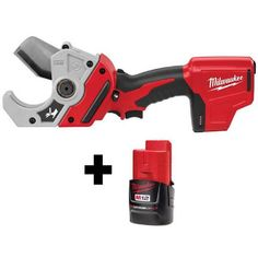 Milwaukee M12 12-Volt Lithium-Ion Cordless PVC Pipe Shear $129 (41% off) @ Home Depot Milwaukee M12, Tools Hardware, Pvc Pipe, Shearing, Going Home, Home Improvement Projects, Stainless Steel, Schedule, Closer