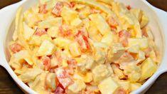 Салат «День народження» із старовинного кулінарного журналу. Всього 4 інгредієнти Hawaiian Pizza, Jello, Pasta Salad, Potato Salad, Cabbage, Lunch, Vegetables, Ethnic Recipes, Salads