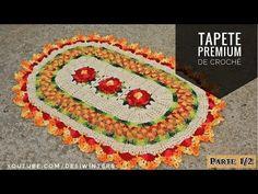 Tapete Oval de #crochê Premium - Artes da Desi - YouTube