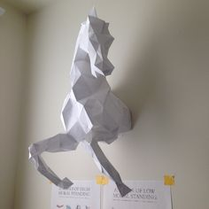 Wild Horse Head papercraft model DIY template For more info visit: www.pazzlediy.com