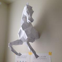 Wild Horse Head papercraft model DIY template For more info visit: www.pazzlediy.com