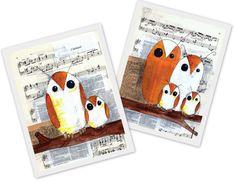 sheet music owls