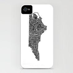 Typographic North Carolina iPhone Case by CAPow! - $35.00