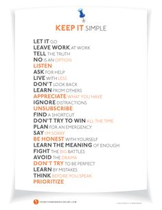 24 Ways to Simplify Your Life | Values to Live By | www.FrankSonnenbergOnline.com