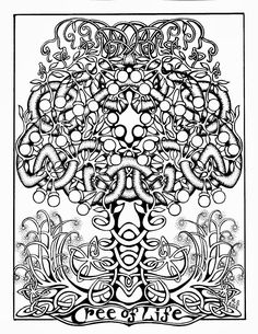 Printable Celtic Coloring Pages | paste, and color the Tree of Life coloring page -- Some Celtic Fun ...