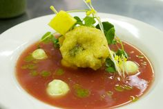 Olivia Roszkowski's gazpacho from her Summer Garden Party Friday Night Dinner