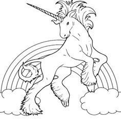 Unicorn Winged Coloring Pages With Heart Find This Pin And
