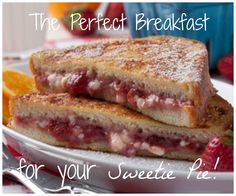 Strawberry Cheesecake French Toast: This would be so cute to make for your sweetie on Valentine's Day. Nothing spells love like breakfast in bed!