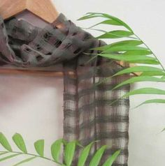 Scarf, Handwoven Cotton in Forest Green & Earth Brown Lightweight Lattice for Spring or Summer Fashion. $145.00, via Etsy.
