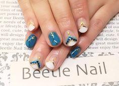 Nail Art - Beetle Nail : 八幡 ターコイズネイル