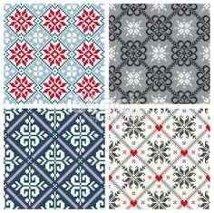 Scandinavian seamless pattern collection