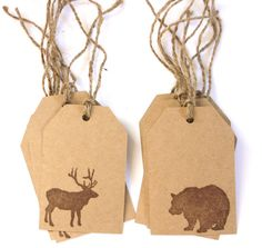 Elk & Bear Gift tags