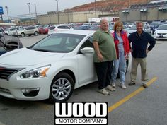 Shela Bazar and Harold Cheek, Harrison, Arkansas, with their 2014 Nissan Altima 2.5 S. October, 2013.