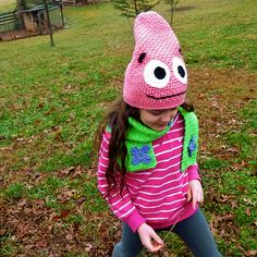 Ravelry: Silly Hat and Scarf Set, Inspired by Patrick Star SpongeBob SquarePants crochet pattern by Darleen Hopkins perfect for Halloween!