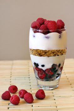 Yogurt, berries, and granola