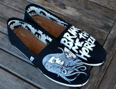 Custom Hand Painted Bring Me The Horizon TOMS by BStreetShoes, $149.00