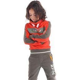 Mortenz sweater met vlakverdeling en col - Rood - NummerZestien.eu