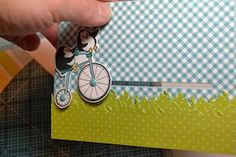Pull-Tab Slider Card Tutorial - Splitcoaststampers  AND Lynn has a tip   I've made slider cards using the Stampin' Up!® word window punch !!!