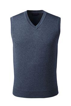 Men's Performance Cotton Modal Sweater Vest from Lands' End