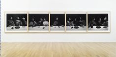 """""""The Last Supper: Acts of God,"""" 1999/2012 (unique silver gelatin print, five-panels). by © Hiroshi Sugimoto"""