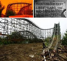 Libertyland, Memphis, TN--pic is of Elvis' favorite roller coaster, the Zippin' Pippin'; first roller coaster I ever rode; park closed in 2005...sad....