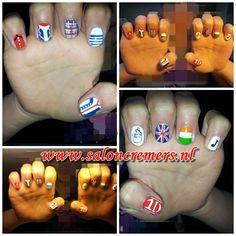 1 direction nail art