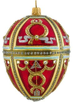 glitterazzi red russian egg ornament traditional christmas ornaments