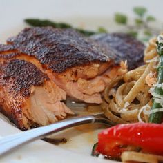 Salmon with Sweet & Spicy Rub (CEimB) Recipe Main Dishes with cooking spray…