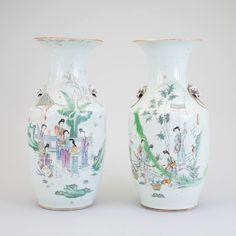 Par de vasos em porcelana Chinesa do sec.19th inicio do sec.20th, 43cm de altura, 3,650 USD / 3,230 EUROS / 12,880 REAIS / 23,610 CHINESE YUAN soulcariocantiques.tictail.com