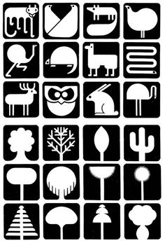 Animal pictograms