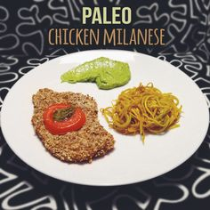 Paleo Chicken Milanese Recipe  Who needs breadcrumbs when you can use almond flour and ground pecans. This chicken milanese is amazing and it's completely paleo/gluten-free.  I made mine with an avocado pesto sauce and yellow squash spaghetti. Try it out!