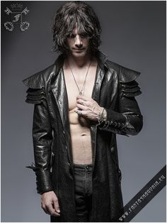 Y-630 Lycanthrope synthetic leather coat by PUNK RAVE   Fantasmagoria.eu - Gothic Fashion boutique
