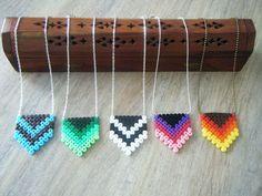 Necklaces hama perler by bijoux-creations-de-sylvie-poilvet
