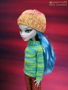 Monster High doll in hand knitted clothes made by me   Flickr - Photo Sharing!