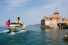 Vapeur LA SUISSE et château de Chillon